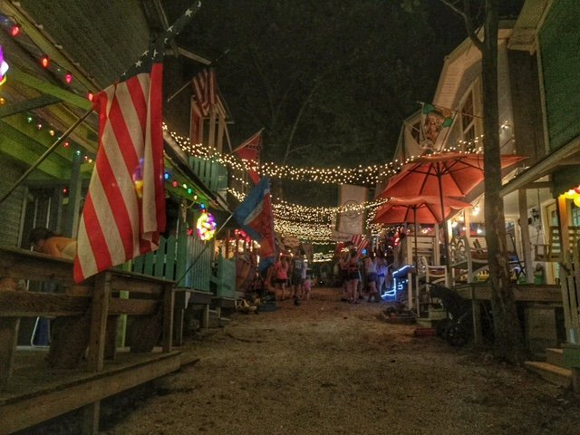 Porches and Cabins at Neshoba County Fair