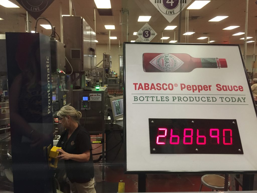 Counter at Tabasco