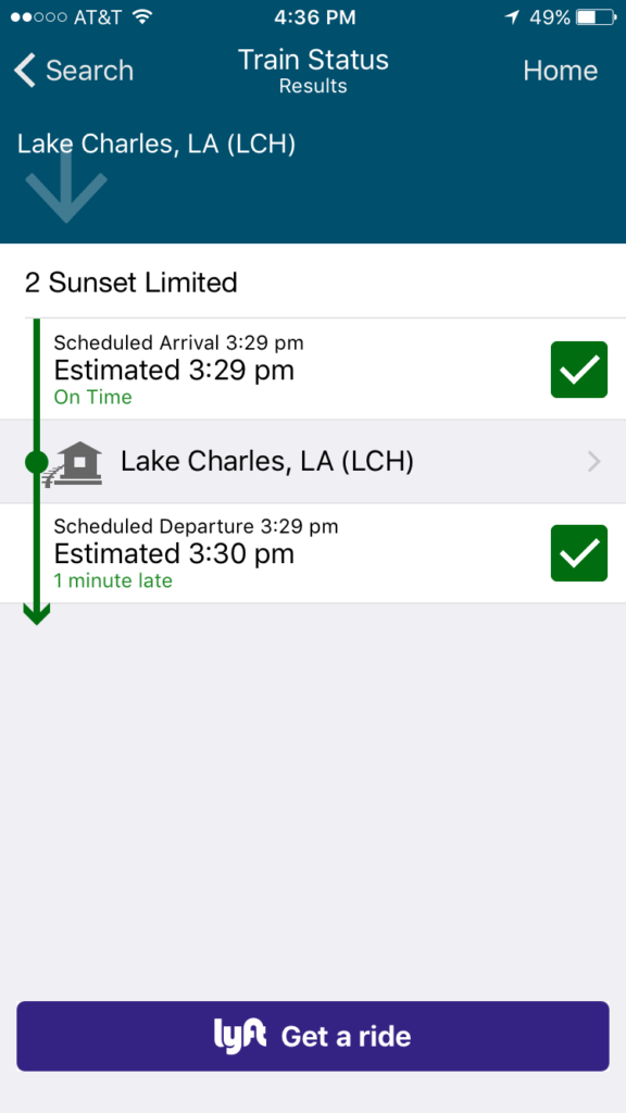 Amtrak Sunset Limited Train 2 Status