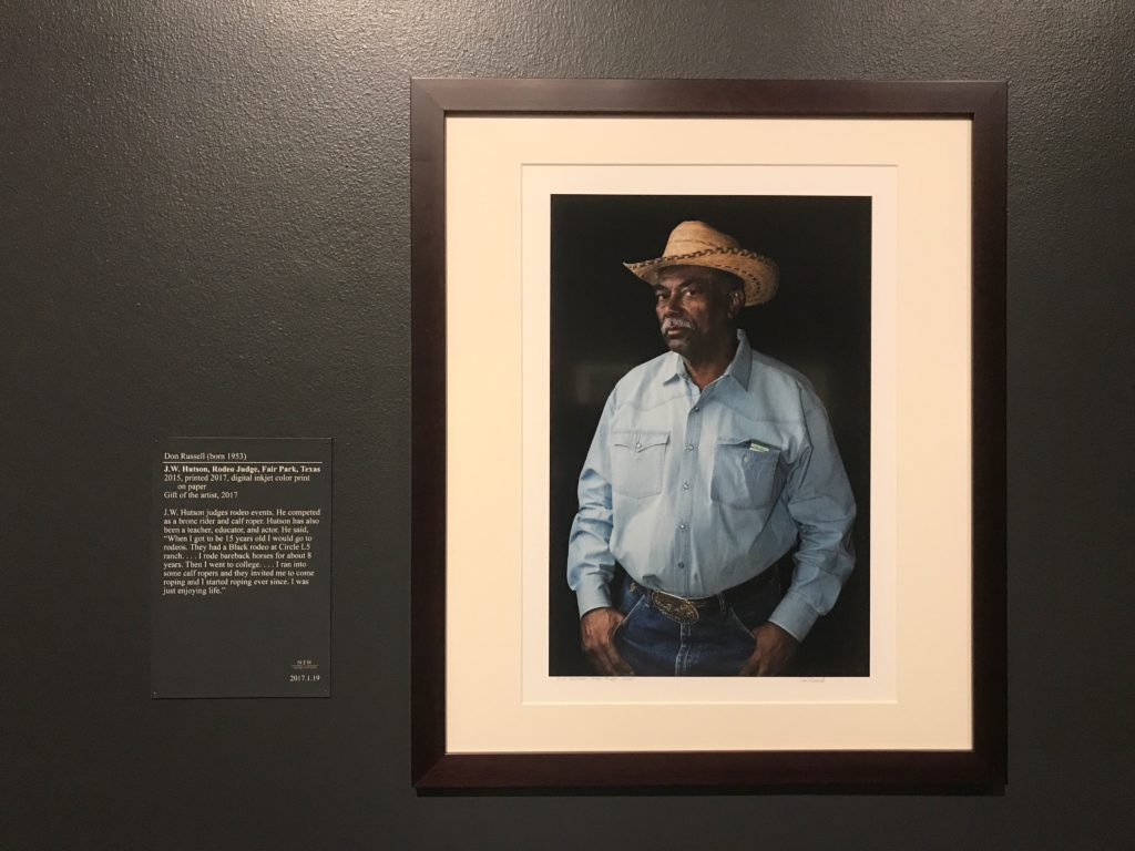 J.W. Hutson Portraits from Cowboys of Color Collection by don Russell at Stark Museum of Art Orange Texas