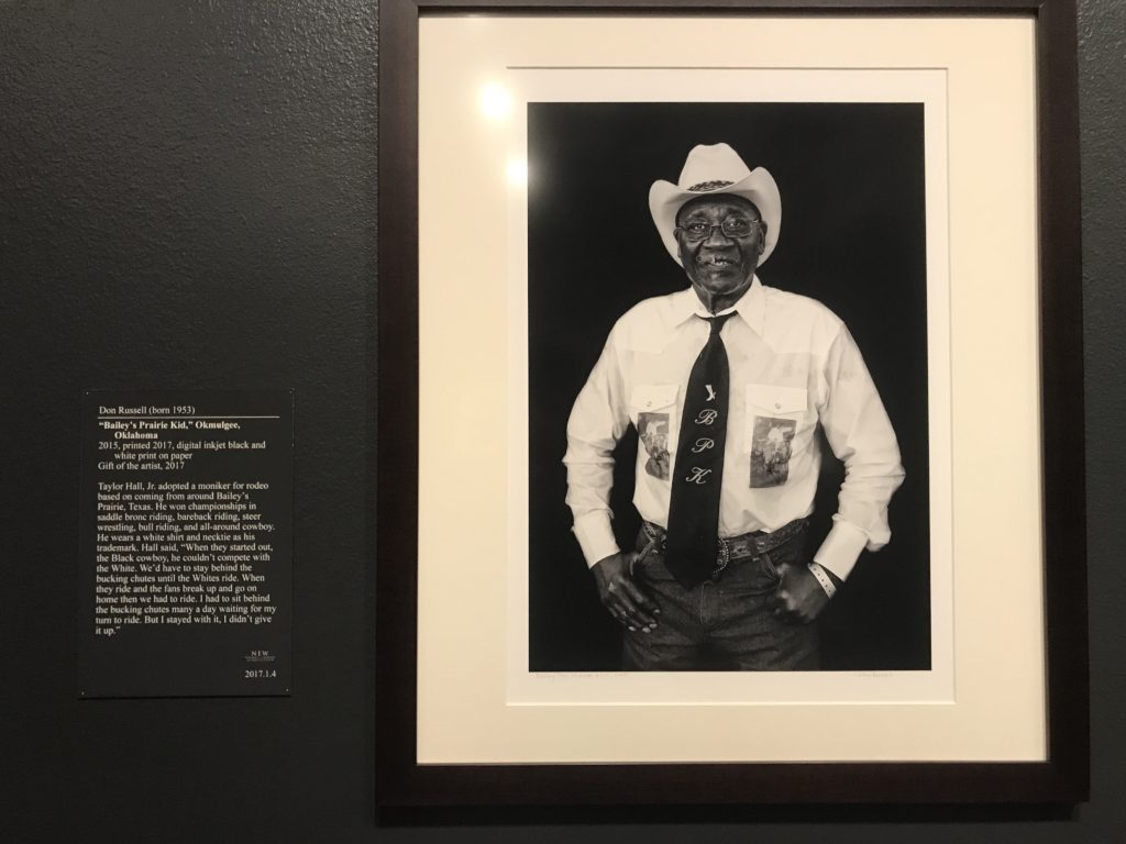Bailey's Praire Kid Portrait from Cowboys of Colors on display at Stark Museum of Art Orange Texas