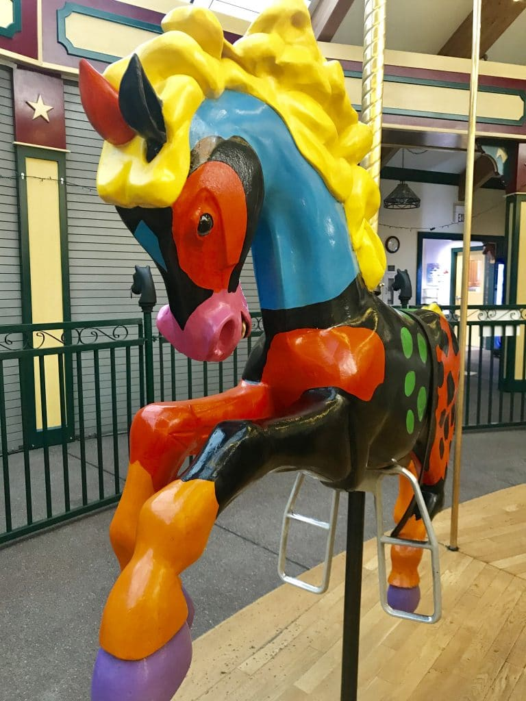 Larry Pirnie's pony Paint A Carousel for Missoula