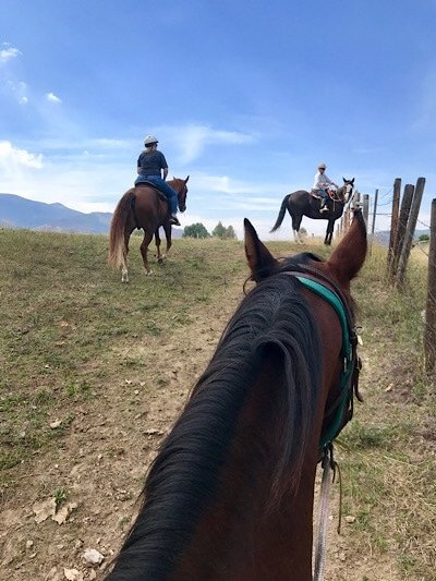 Horse back riding at Dunrovin Ranch