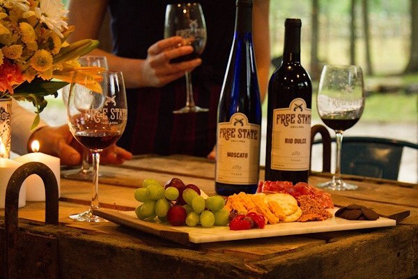 charcuterie and wine at private tasting